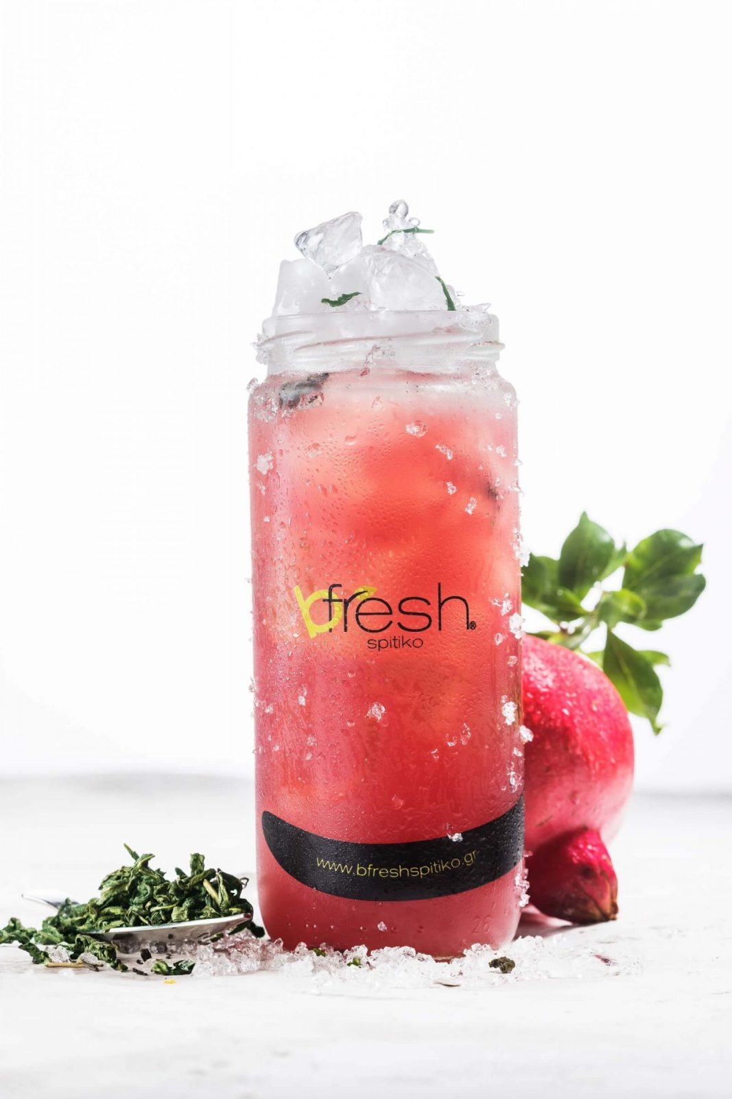 B Fresh Pomegranate Green Tea scaled