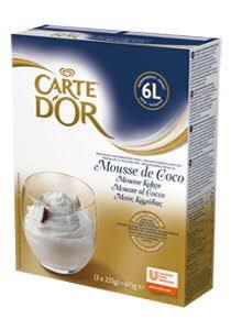 CARTE D OR mousse de coco