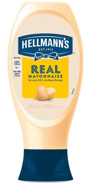 HELLMANS real mayonnaise top down