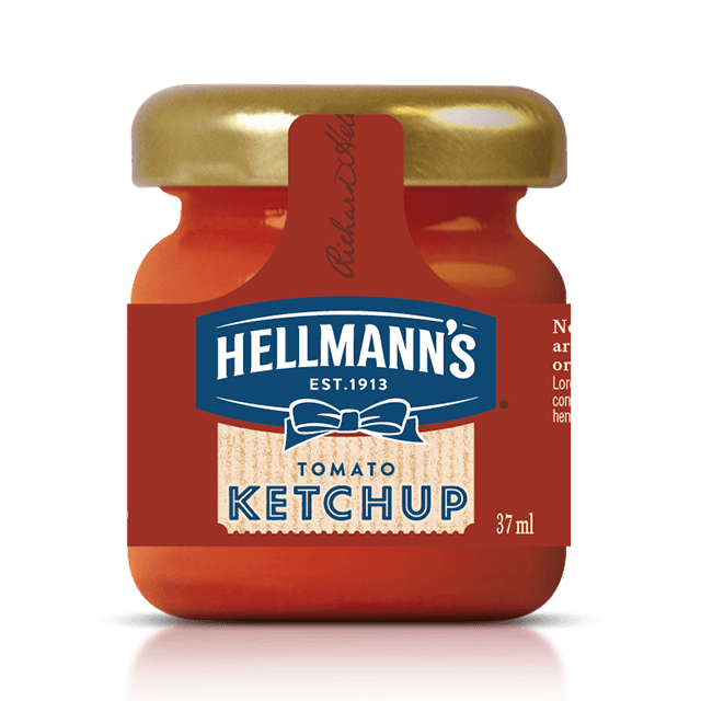 HELLMANS mini tomato ketchup 37ml