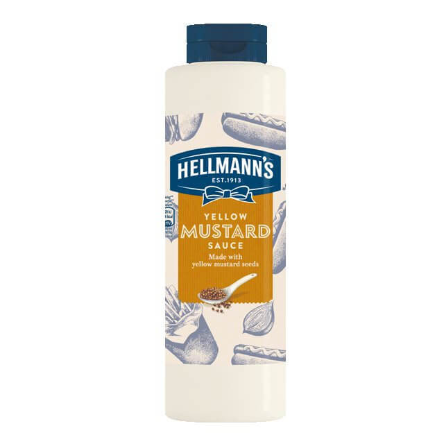 HELLMANS yellow mustard sause