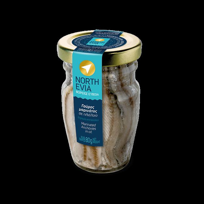 NORTH EVIA gavros marinatos vazo 80g